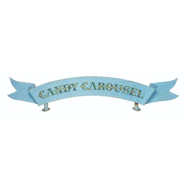 Candy Carousel Metal Sign.