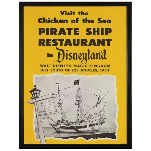 Chicken of the Sea Pirate Ship Restaurant Poster.