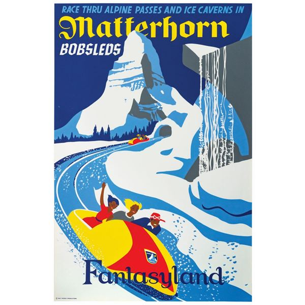 Matterhorn Bobsleds Attraction Poster.