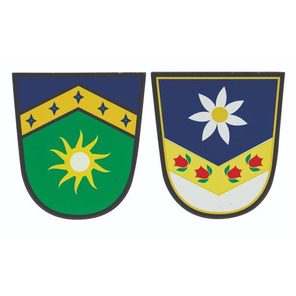 Pair of Matterhorn Crest Shield Signs.