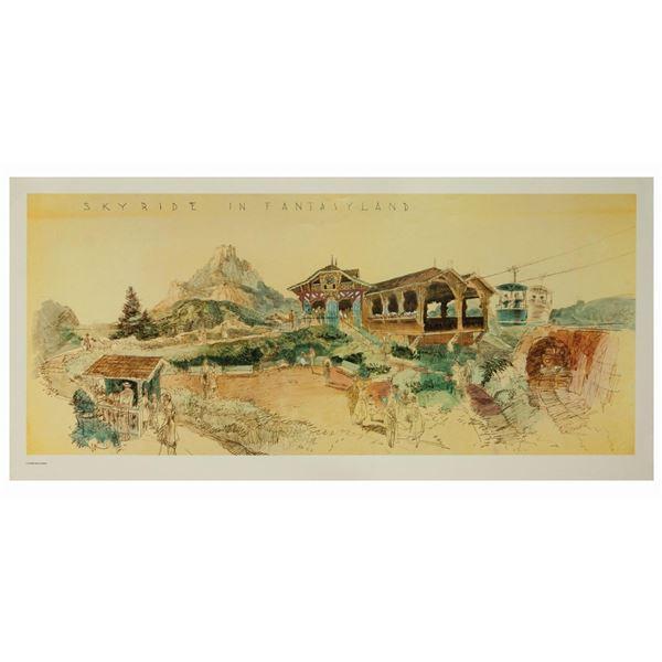 """Skyride in Fantasyland"" Skyway Concept Art Print."