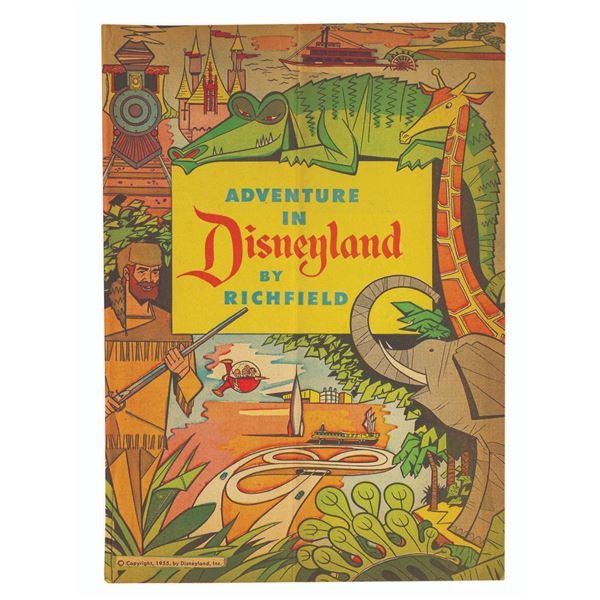 Adventures in Disneyland by Richfield Comic Book.