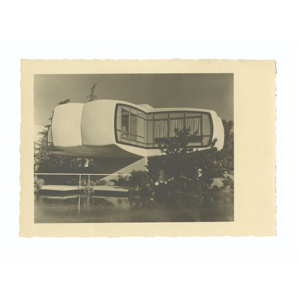 House of the Future Unreleased Prototype Postcard.