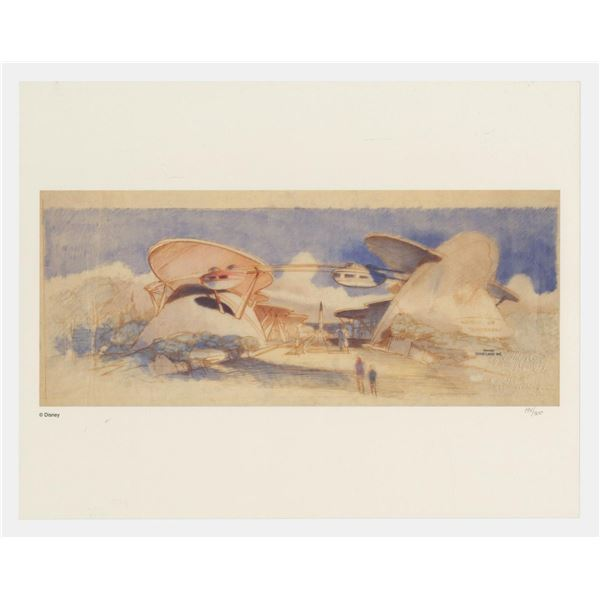 Tomorrowland 1954 Limited Edition Concept Art Print.
