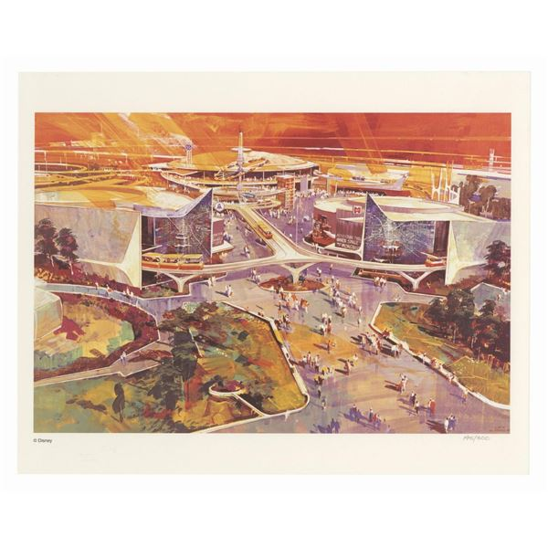 Tomorrowland 1967 Limited Edition Concept Art Print.