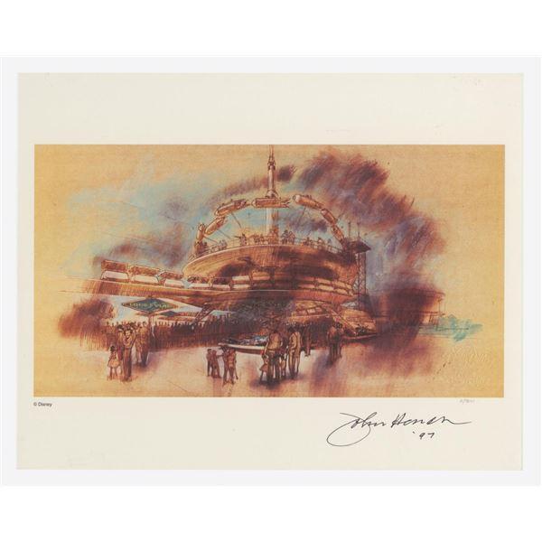 Signed John Hench PeopleMover & Rocket Jets Concept.