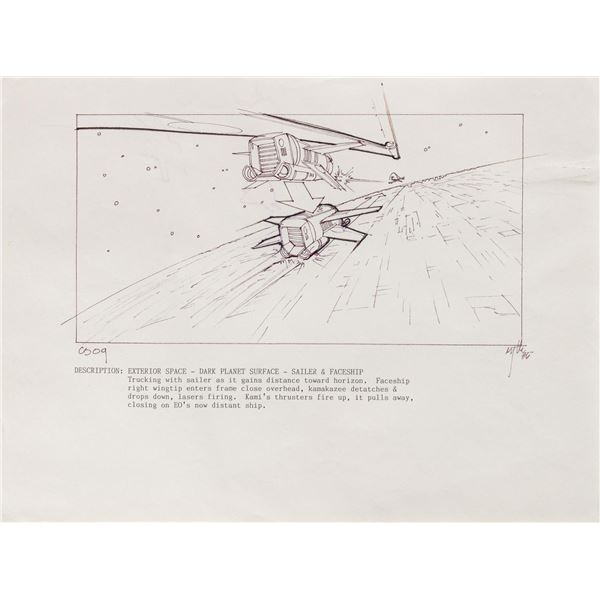 Captain EO Original Storyboard.