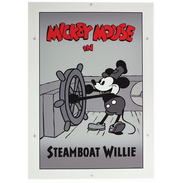 Mickey's House Steamboat Willie Poster.