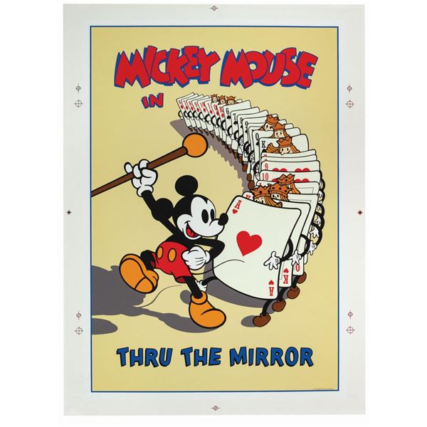 Mickey's House Through the Mirror Poster.