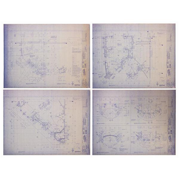 Set of (4) California Adventure Park Blueprints.