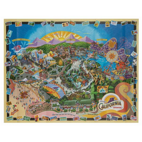 California Adventure Opening Day Park Map.
