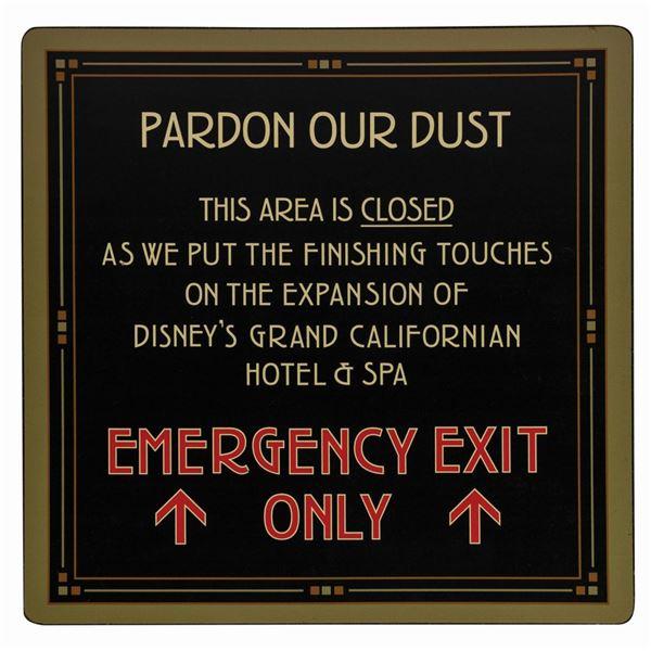 Disney's Grand Californian Renovation Sign.