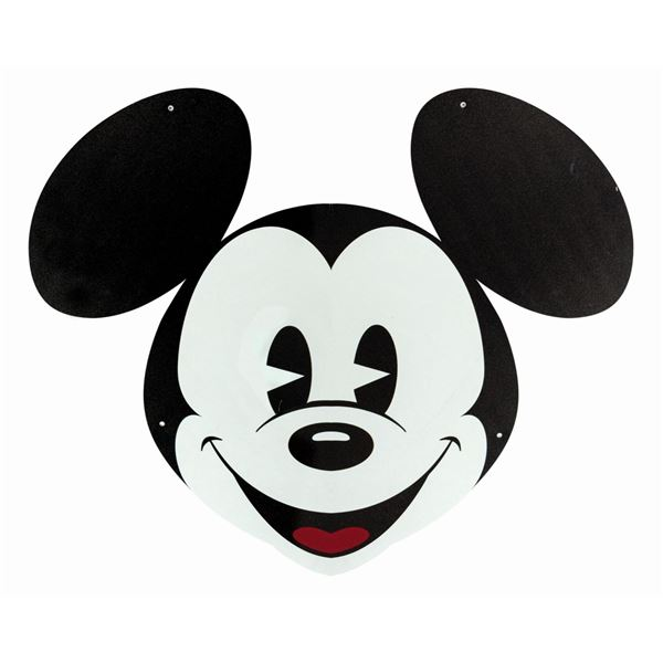 Pie-Eyed Mickey Mouse Head Sign.