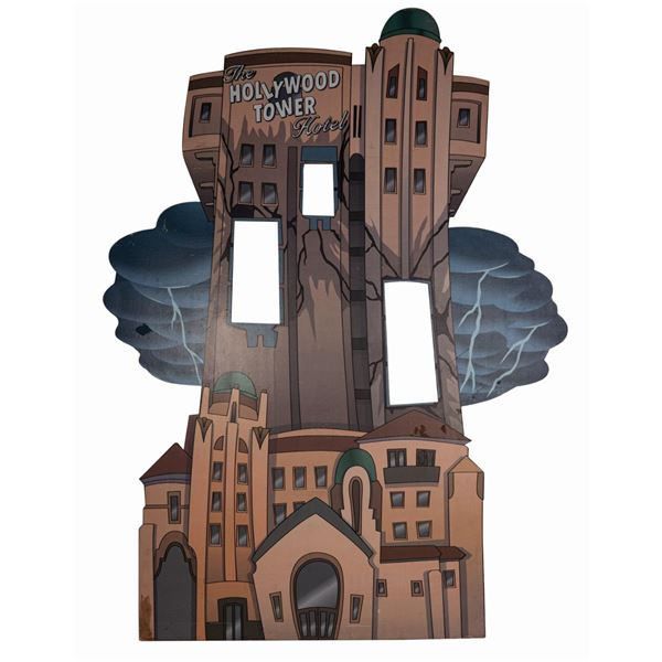 The Hollywood Tower Hotel Photo Op Prop Cutout.