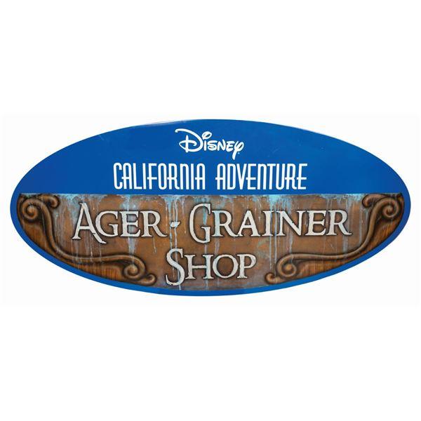 California Adventure Ager/Grainer Shop Sign.