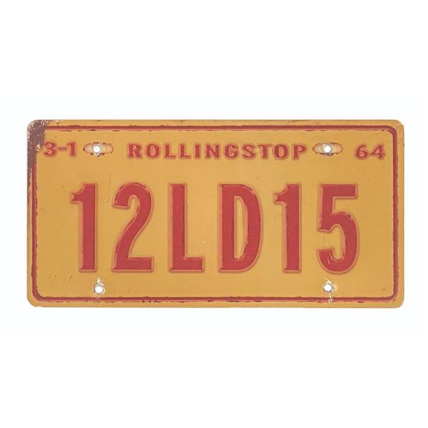 Mater's Junkyard Jamboree License Plate Prop.