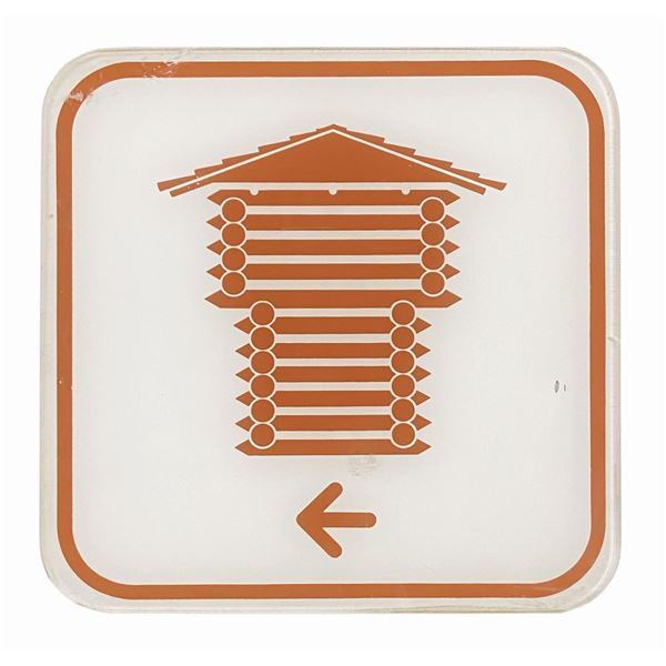 Frontierland Utilidor Directional Sign.