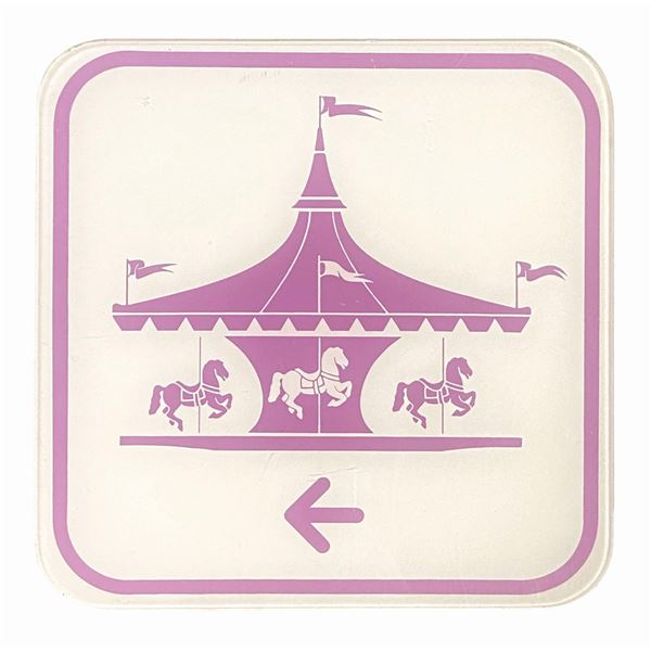 Fantasyland Utilidor Directional Sign.