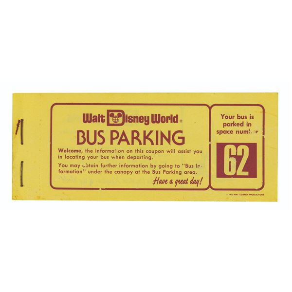 Stack of (40) Walt Disney World Bus Parking Coupons.