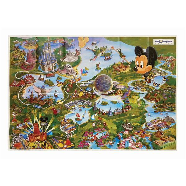 1992 Walt Disney World Resort Map.