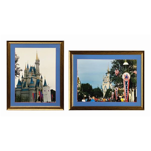 Pair of Walt Disney World Cinderella Castle Photos.