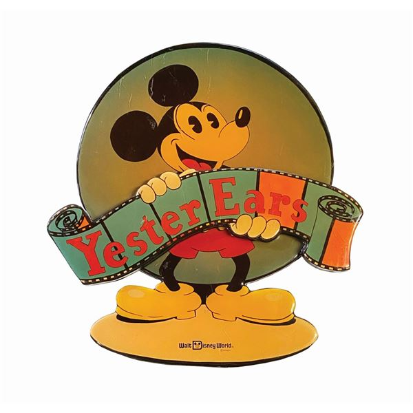 """Mickey Mouse """"Yester Ears"""" Wooden Store Sign."""