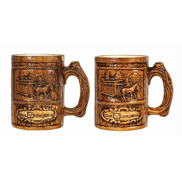 Pair of Rustic Walt Disney World Mugs.