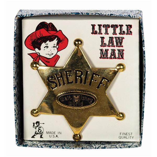 Little Law Man Sheriff Badge.