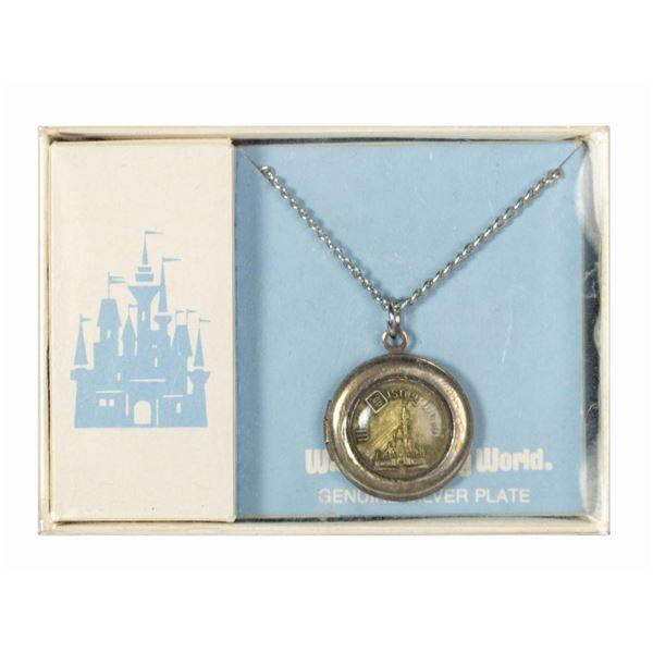 Walt Disney World Silver Plate Locket with Necklace.