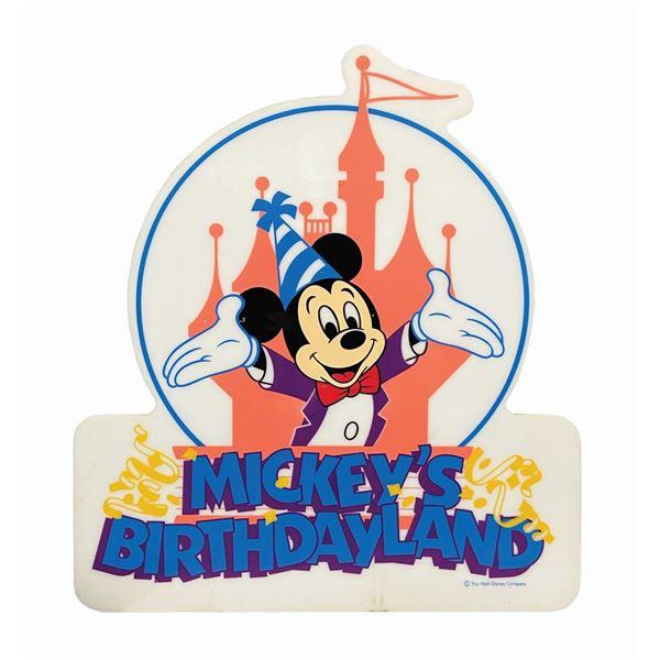 Mickey's Birthdayland Sign.