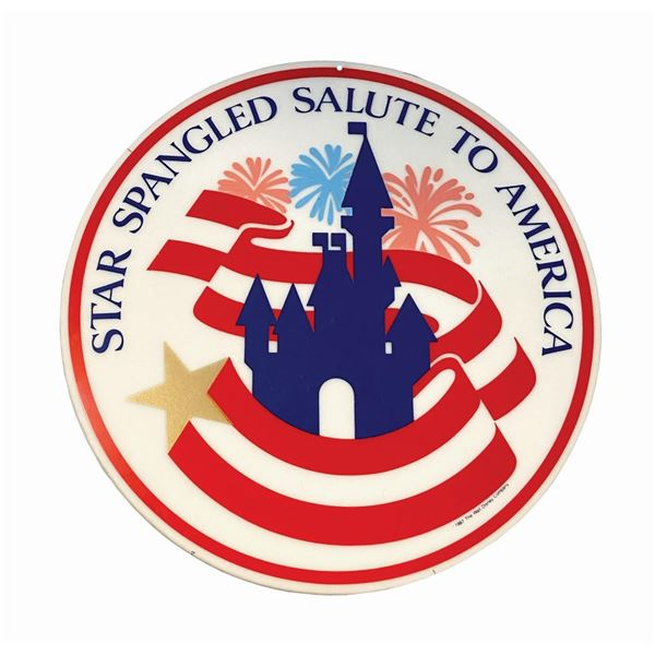 Star Spangled Salute to America Lamppost Sign.