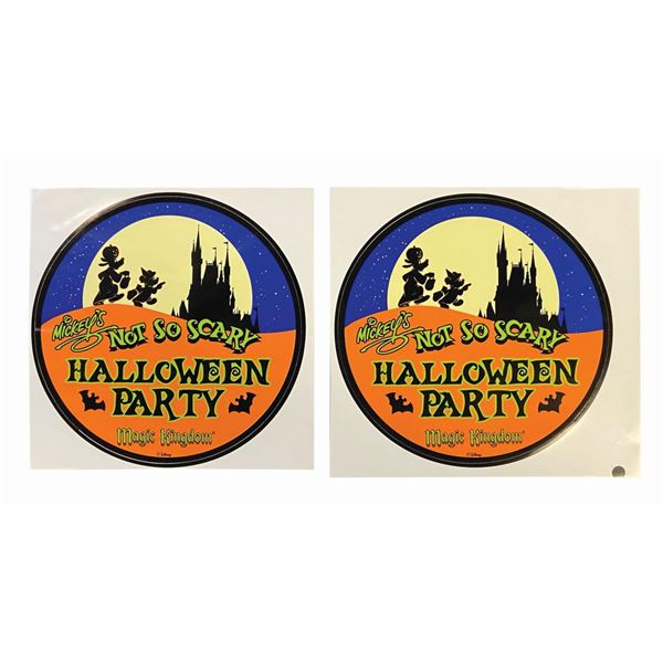 Pair of Mickey's Not So Scary Halloween Party Decals.
