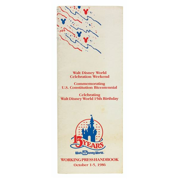Walt Disney World 15th Anniversary Press Handbook.
