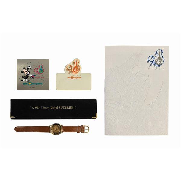 Set of (4) Walt Disney World 20th Anniversary Items.