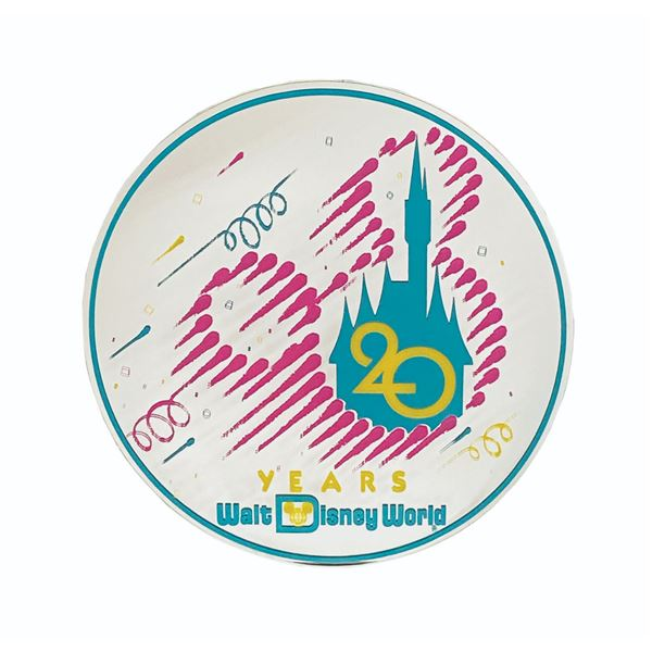 Walt Disney World 20th Anniversary Park Sign.