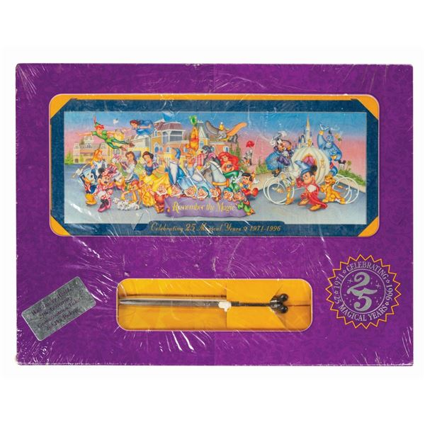 Walt Disney World 25th Anniversary Ticket and Pen Set.