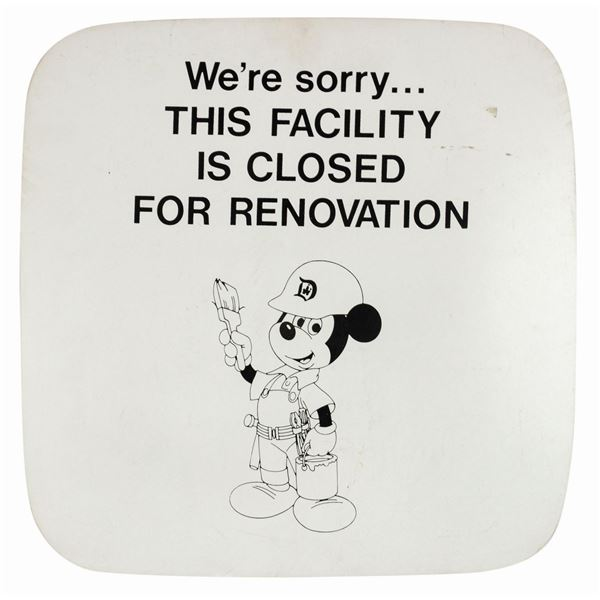 Walt Disney World Closed For Renovation Park Sign.