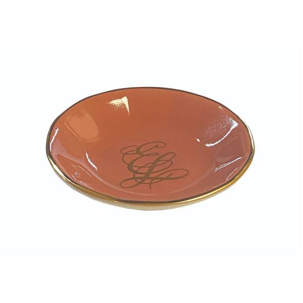Empress Lilly Monogrammed Butter Pat Plate.