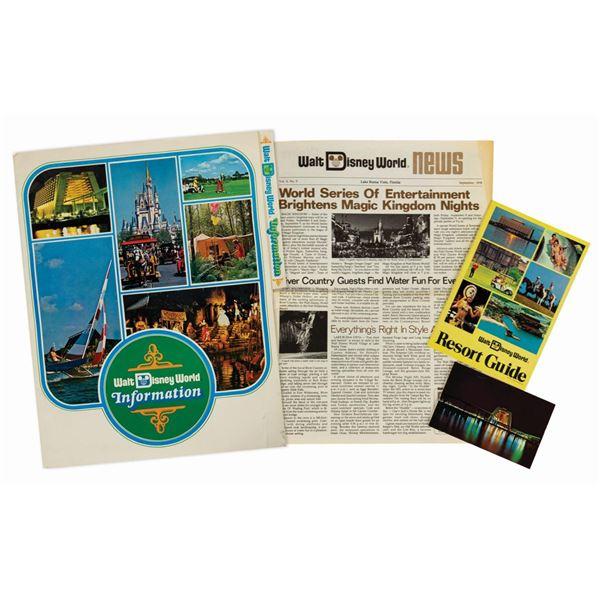 Contemporary Resort Information Folder.