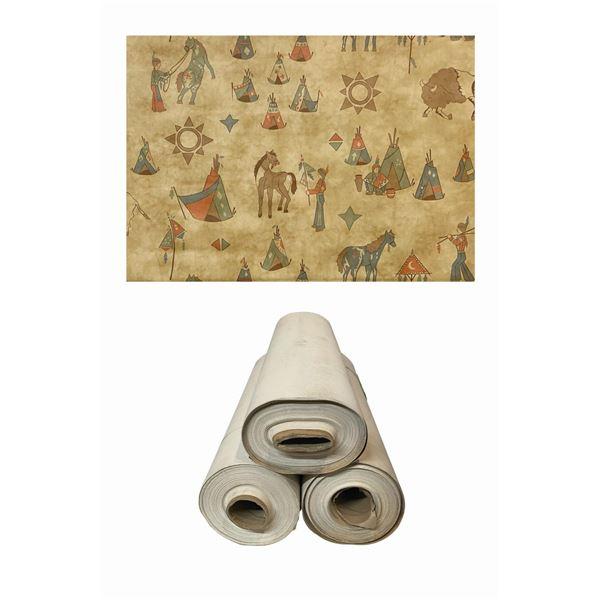 Set of (3) Disney Wilderness Lodge Wallpaper Rolls.