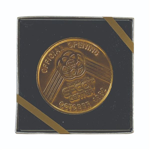 Epcot Official Opening VIP Commemorative Medallion.