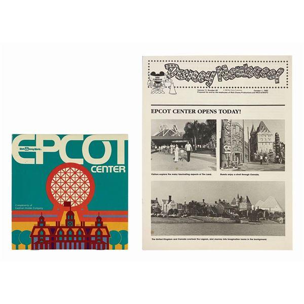 Epcot Center Kodak Dial Map & Disney Newsreel.