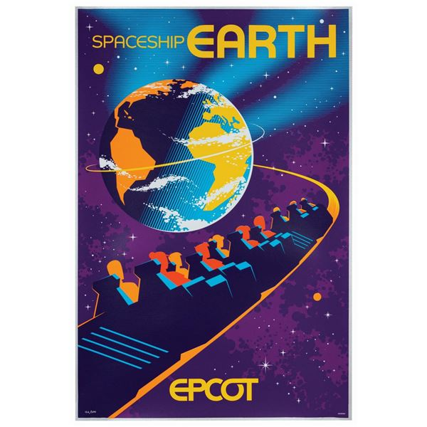 Spaceship Earth Attraction Poster Serigraph.