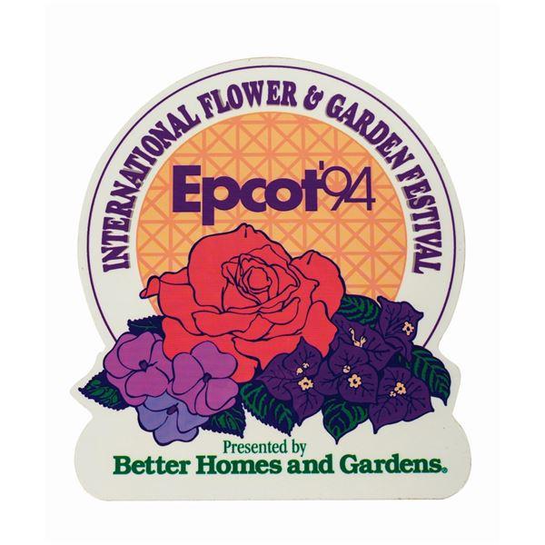 Epcot International Flower & Garden Festival Sign.
