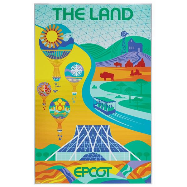 The Land Pavilion Attraction Poster Serigraph.