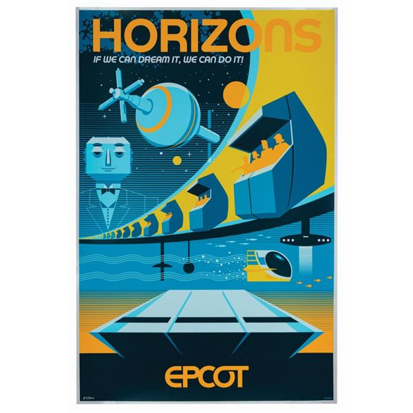 Horizons Attraction Poster Serigraph.