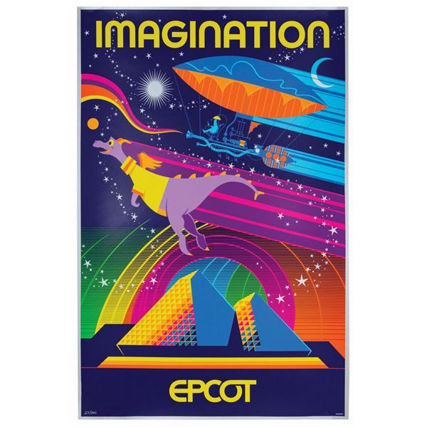Imagination Pavilion Attraction Poster Serigraph.