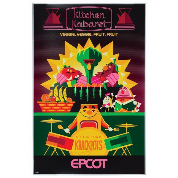 Kitchen Kabaret Attraction Poster Serigraph.