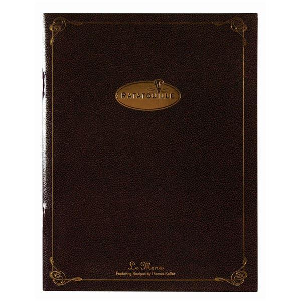 """Ratatouille """"Le Menu"""" Promotional Cookbook."""
