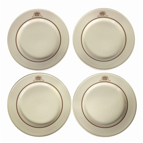 Set of (4) The Hollywood Brown Derby Plates.